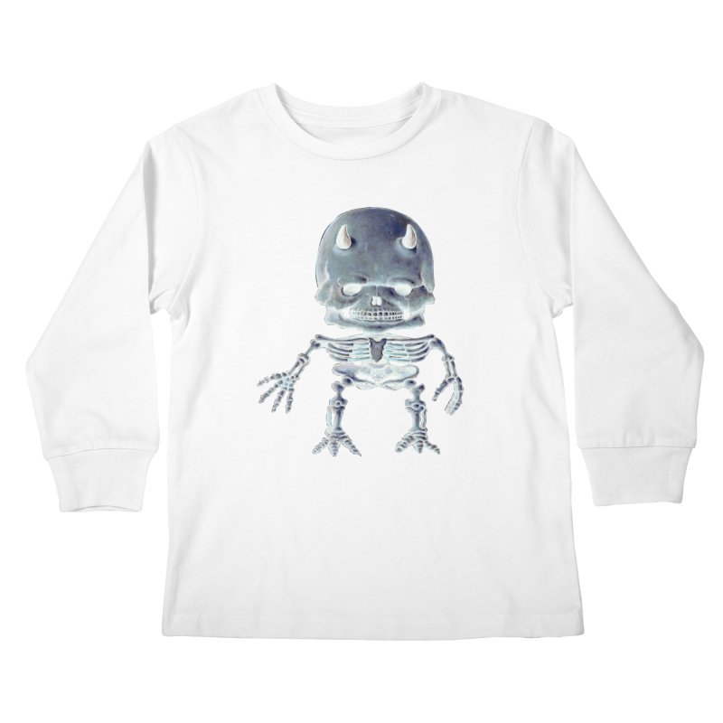 Luey Skeletal Inverted  Kids Longsleeve T-Shirt by Bob Dob