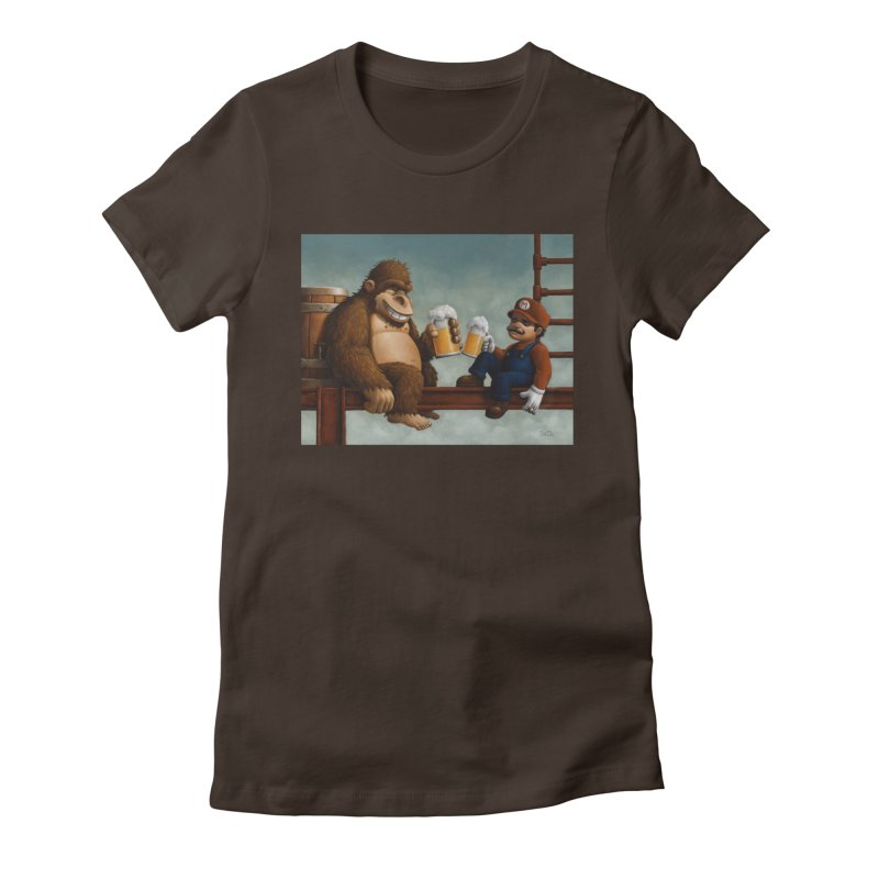 Cheers Women's Fitted T-Shirt by Bob Dob