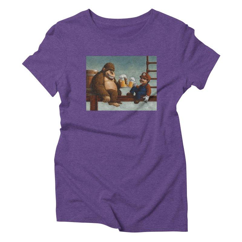 Cheers Women's Triblend T-shirt by Bob Dob
