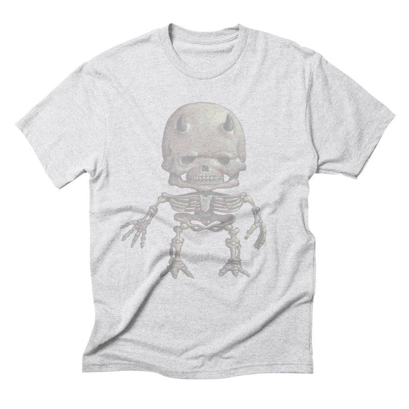 Luey Skeletal Men's Triblend T-shirt by Bob Dob