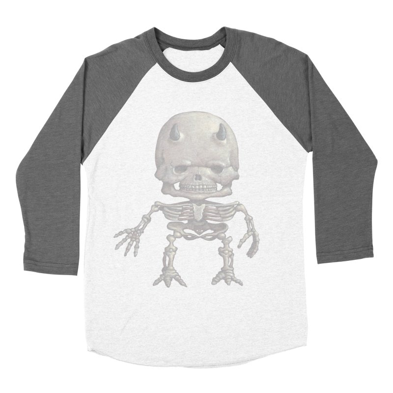 Luey Skeletal Men's Baseball Triblend T-Shirt by Bob Dob