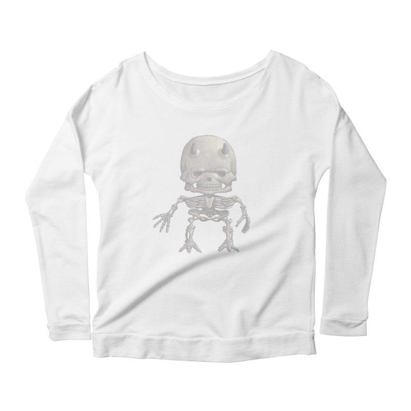 Luey Skeletal Women's Longsleeve Scoopneck  by Bob Dob