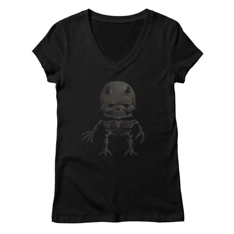 Luey Skeletal Women's V-Neck by Bob Dob
