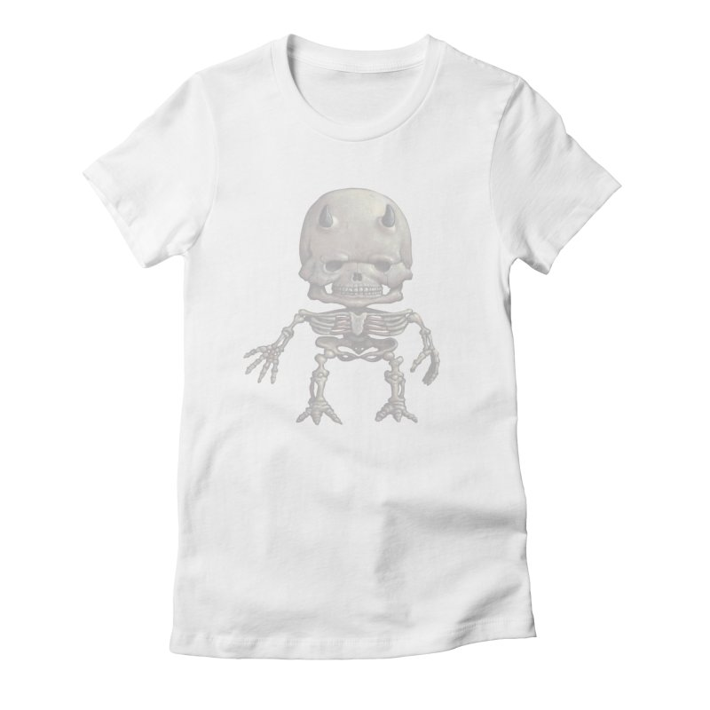 Luey Skeletal Women's Fitted T-Shirt by Bob Dob