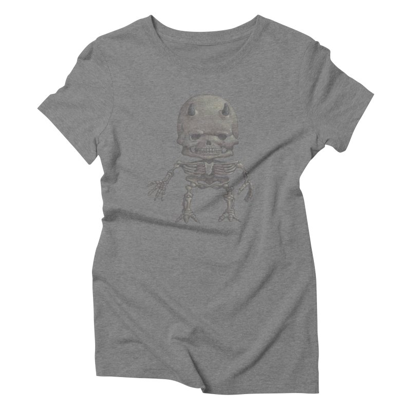 Luey Skeletal Women's Triblend T-shirt by Bob Dob