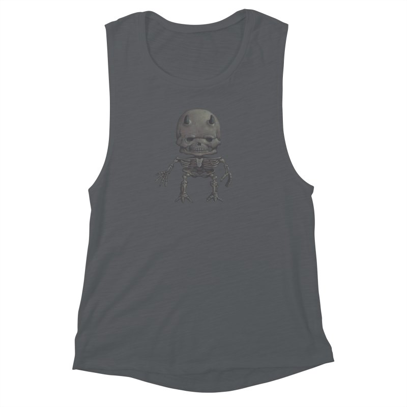 Luey Skeletal Women's Muscle Tank by Bob Dob