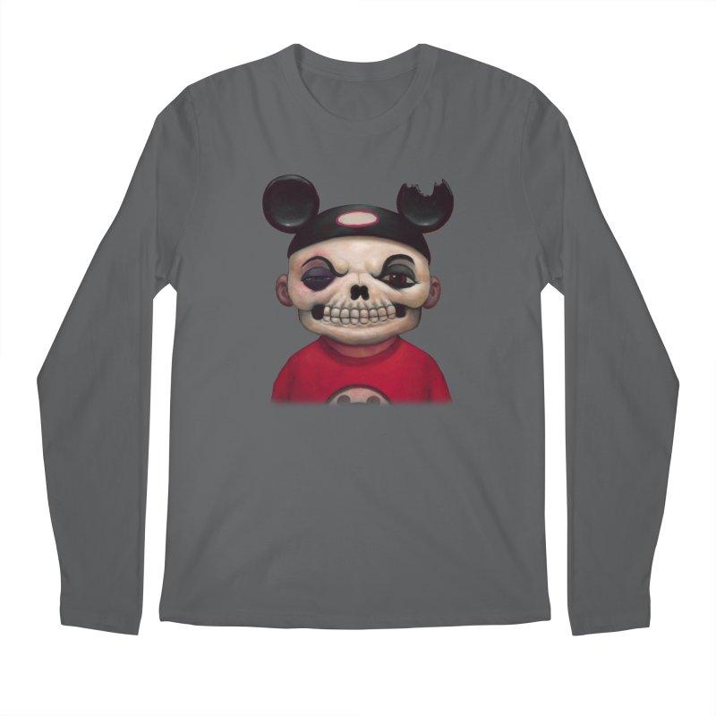 Mouseketeer Skully Men's Longsleeve T-Shirt by Bob Dob