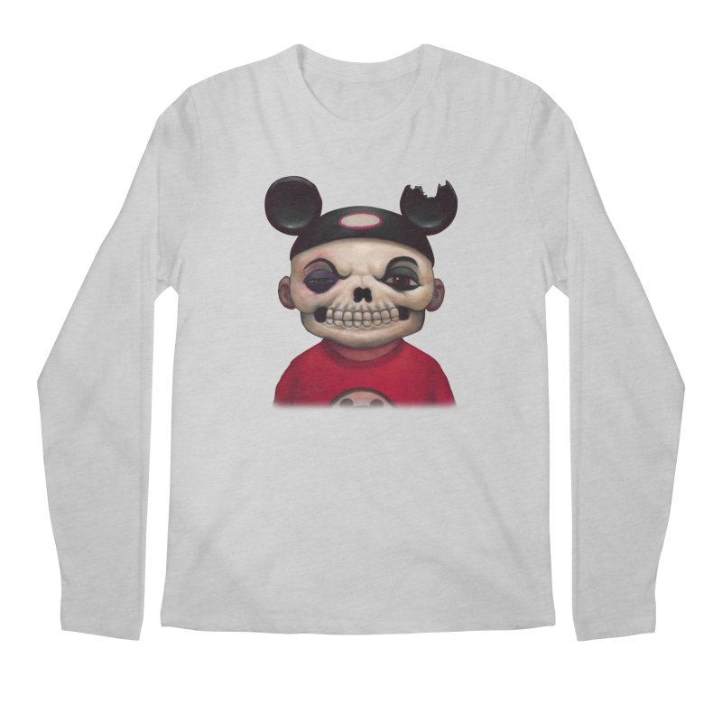 Mouseketeer Skully Men's Longsleeve T-Shirt by Bob Dob