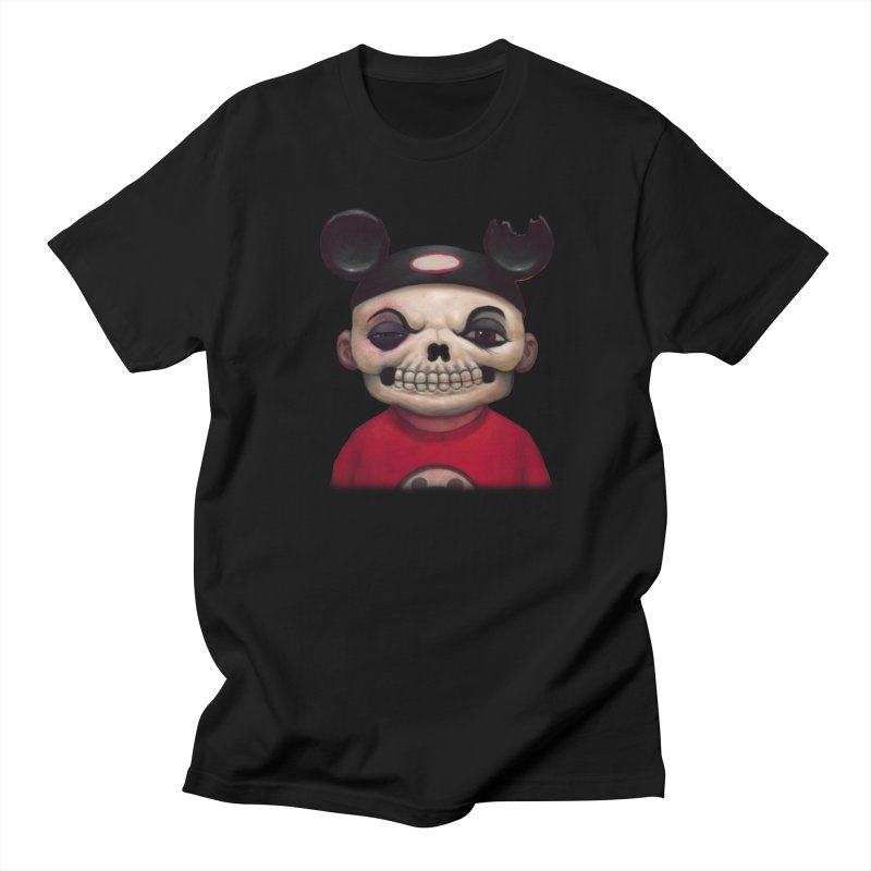 Mouseketeer Skully in Men's Regular T-Shirt Black by Bob Dob