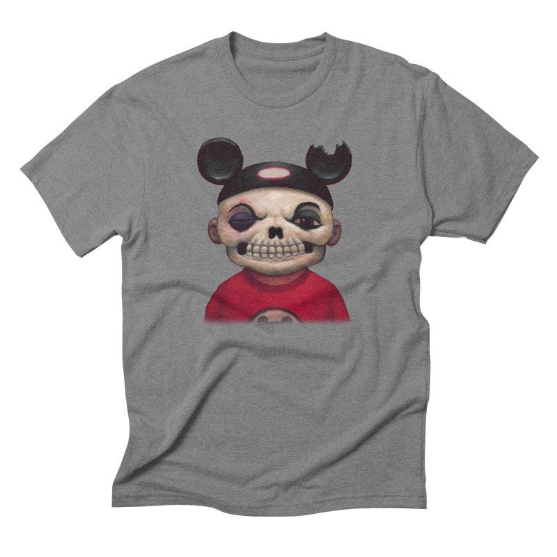 Mouseketeer Skully Men's Triblend T-shirt by Bob Dob