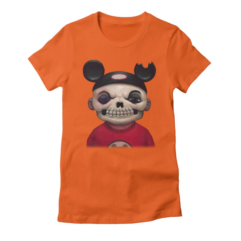 Mouseketeer Skully Women's Fitted T-Shirt by Bob Dob