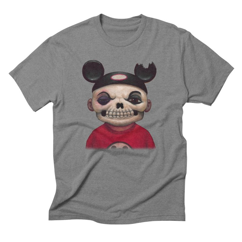Mouseketeer Skully Men's Triblend T-shirt by Bob Dob