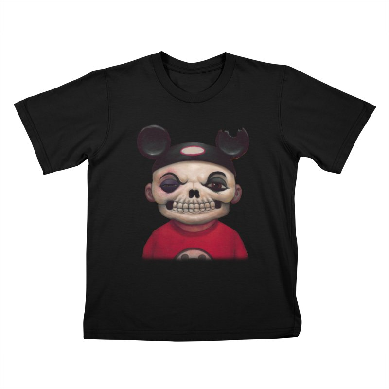 Mouseketeer Skully Kids T-Shirt by Bob Dob