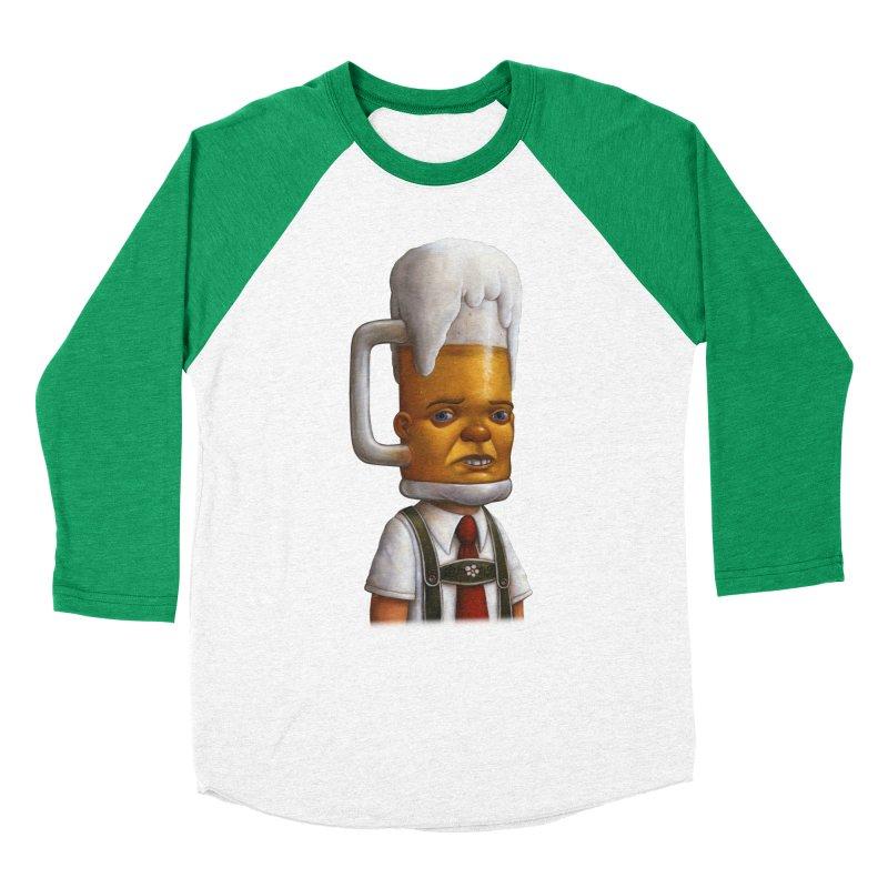 Beer Head Men's Baseball Triblend T-Shirt by Bob Dob