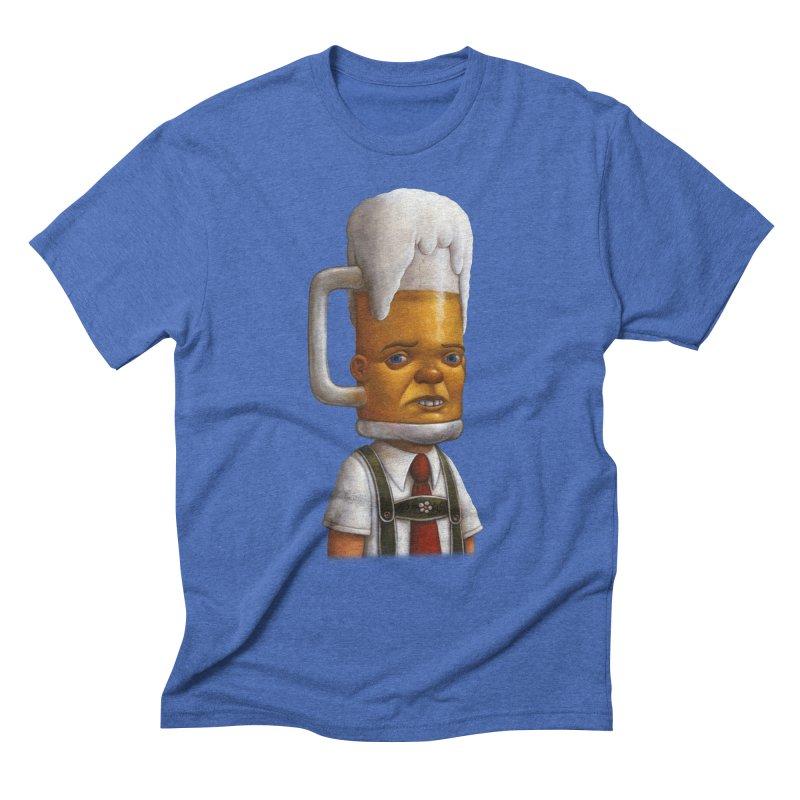 Beer Head Men's Triblend T-shirt by Bob Dob