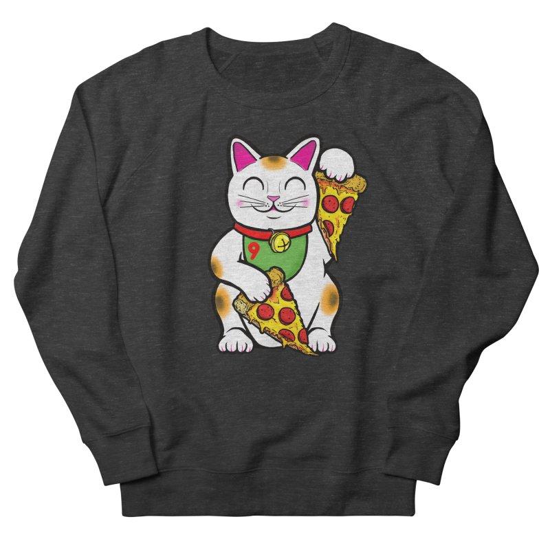 ラッキーピザ猫 (Lucky Pizza Cat) Women's French Terry Sweatshirt by Bob Motown's SUPER SNAZZY Shirt Shack