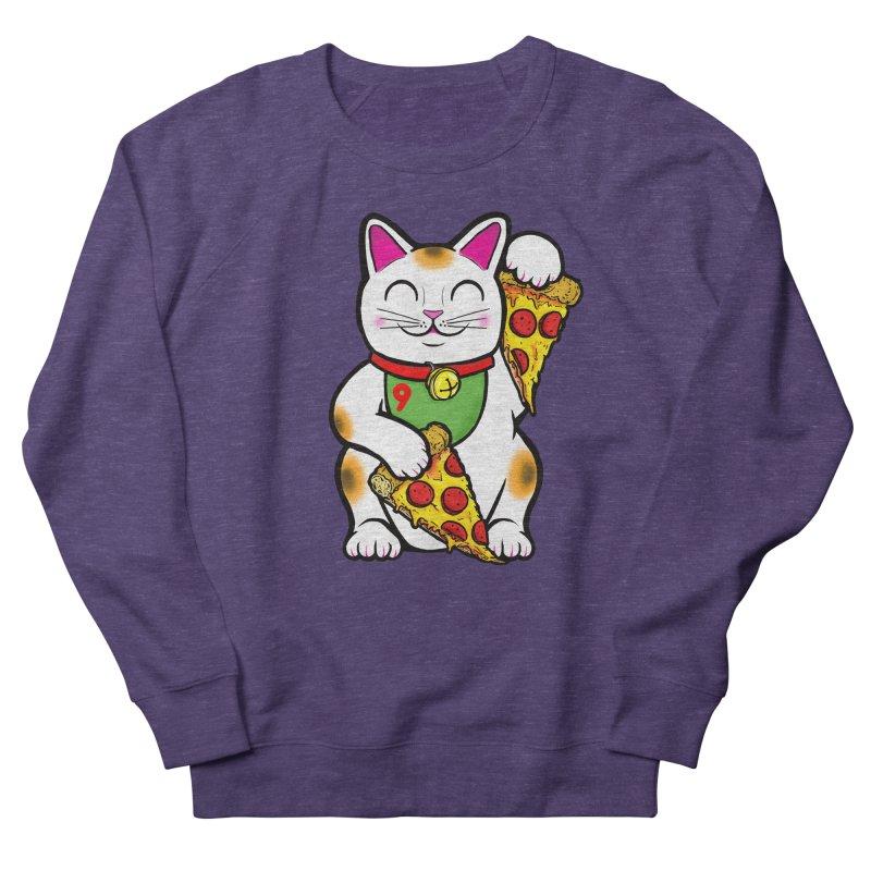 ラッキーピザ猫 (Lucky Pizza Cat) Men's French Terry Sweatshirt by Bob Motown's SUPER SNAZZY Shirt Shack