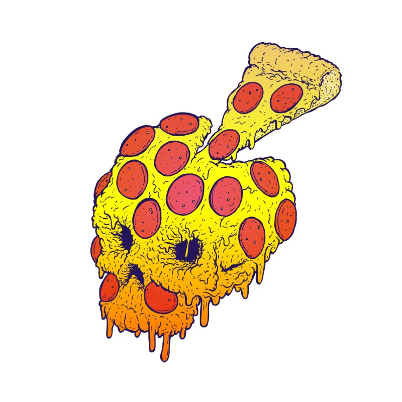 Pizza Skull by Bob Motown's SUPER SNAZZY Shirt Shack