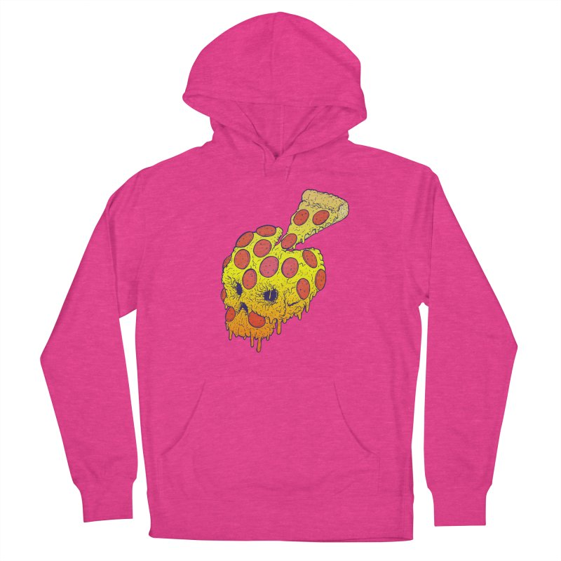 Pizza Skull Women's French Terry Pullover Hoody by Bob Motown's SUPER SNAZZY Shirt Shack