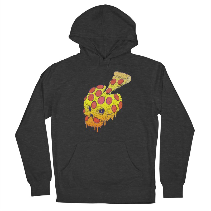 Pizza Skull Men's French Terry Pullover Hoody by Bob Motown's SUPER SNAZZY Shirt Shack