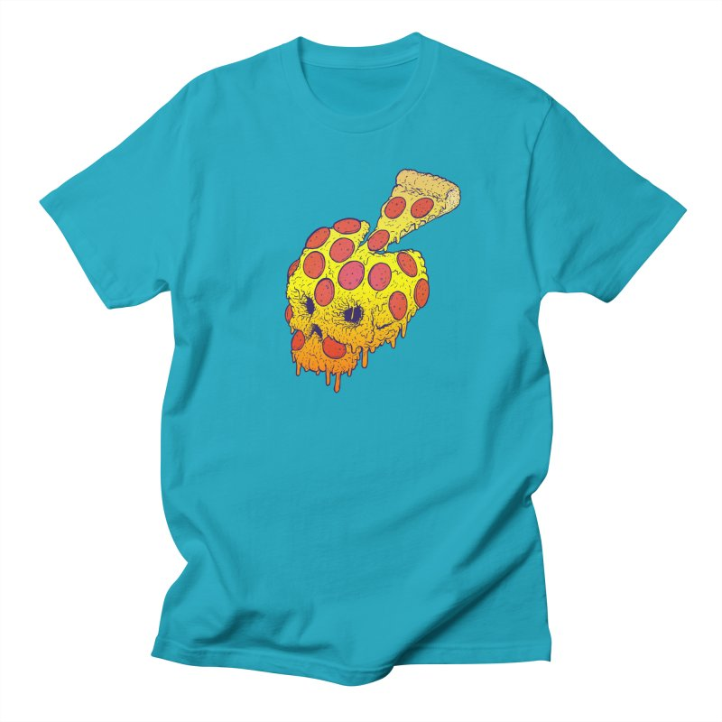 Pizza Skull Men's Regular T-Shirt by Bob Motown's SUPER SNAZZY Shirt Shack
