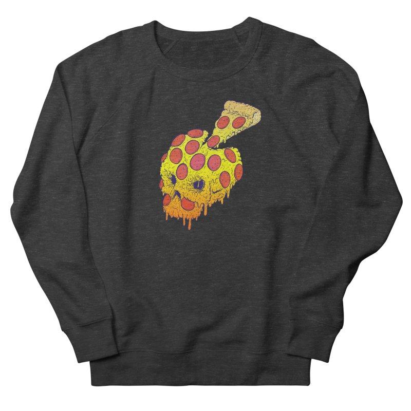 Pizza Skull Women's French Terry Sweatshirt by Bob Motown's SUPER SNAZZY Shirt Shack