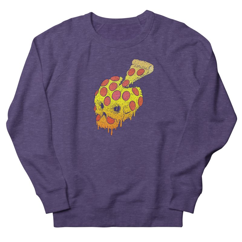 Pizza Skull Women's French Terry Sweatshirt by Bob Motown's SUPER SNAZZY Shirt Shack