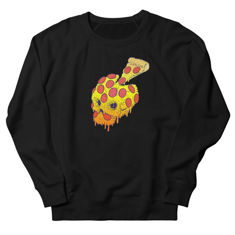 Pizza Skull Men's French Terry Sweatshirt by Bob Motown's SUPER SNAZZY Shirt Shack
