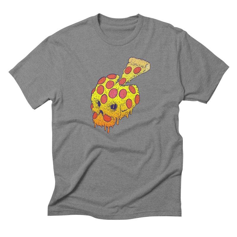 Pizza Skull Men's Triblend T-Shirt by Bob Motown's SUPER SNAZZY Shirt Shack