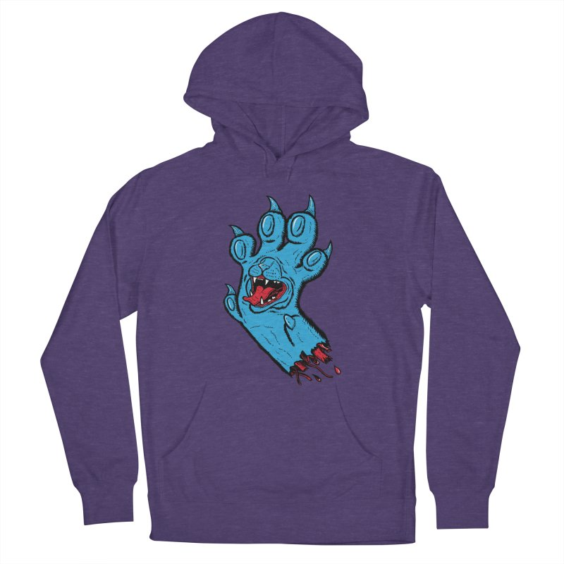 Screaming Paw Men's French Terry Pullover Hoody by Bob Motown's SUPER SNAZZY Shirt Shack