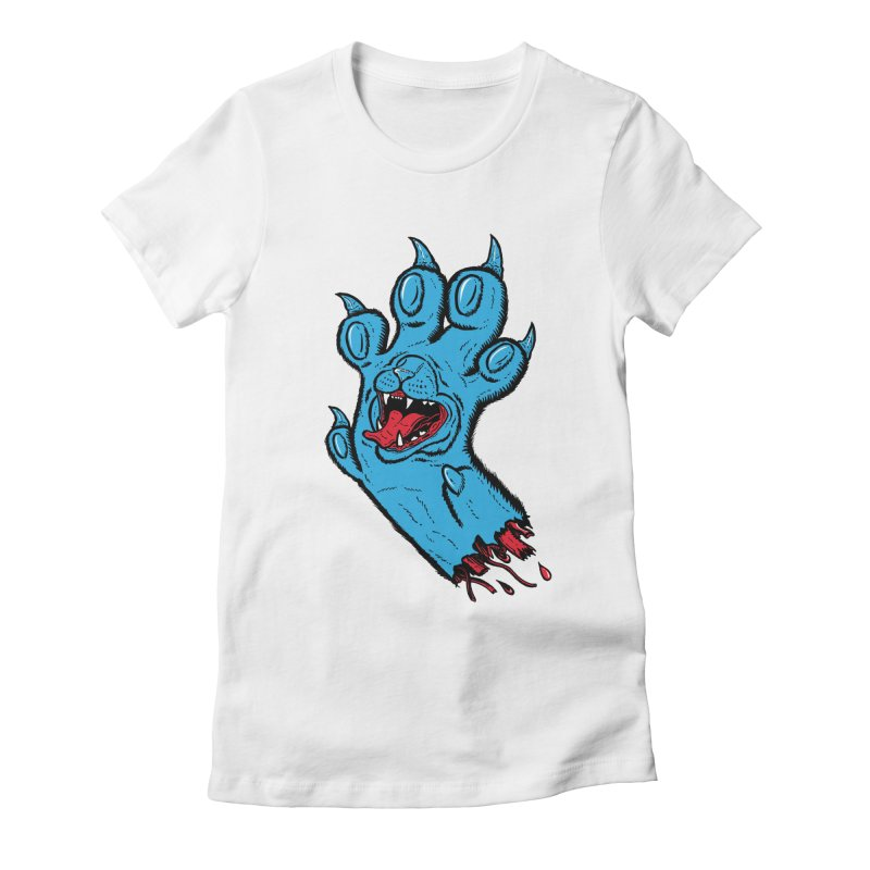Screaming Paw Women's Fitted T-Shirt by Bob Motown's SUPER SNAZZY Shirt Shack