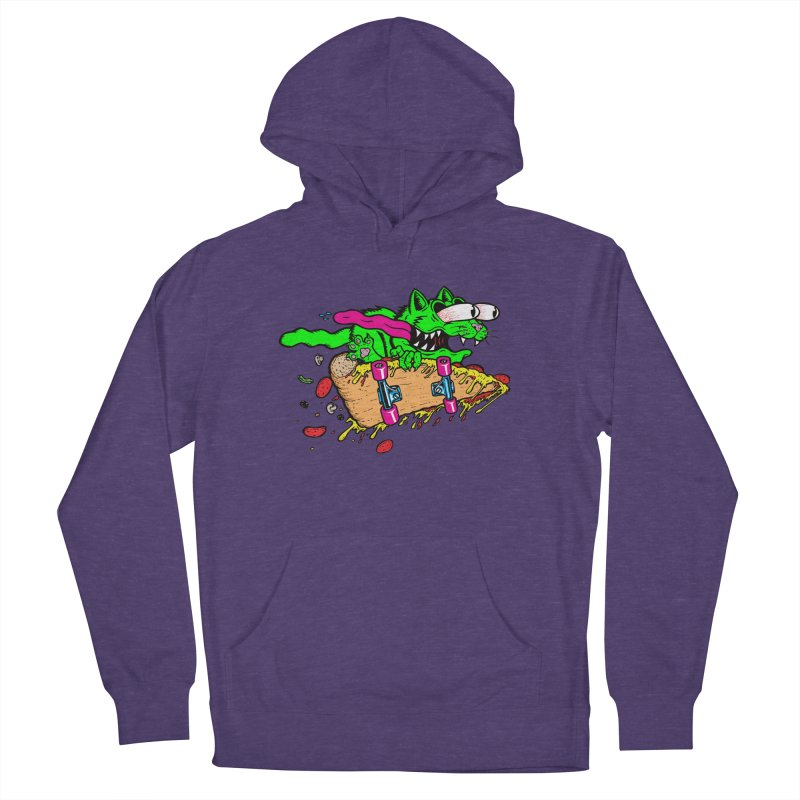 Slasher Cat Women's French Terry Pullover Hoody by Bob Motown's SUPER SNAZZY Shirt Shack