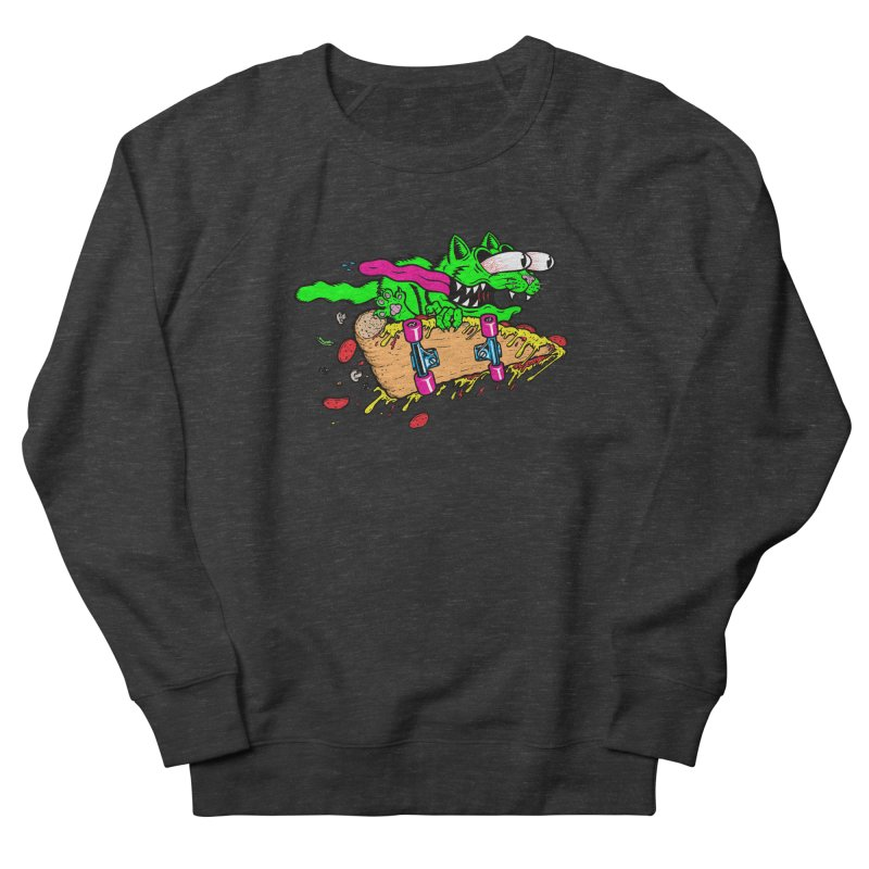 Slasher Cat Women's French Terry Sweatshirt by Bob Motown's SUPER SNAZZY Shirt Shack