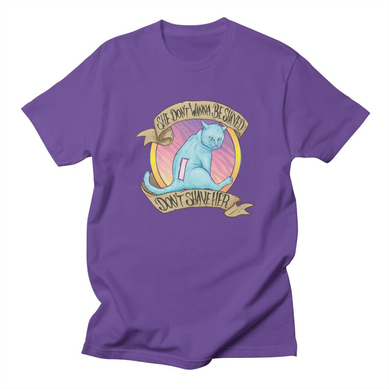 She Don't Wanna Be Shaved! Men's Regular T-Shirt by Bob Motown's SUPER SNAZZY Shirt Shack