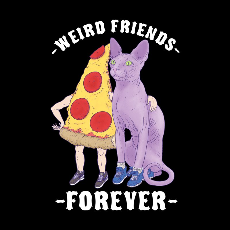 WEIRD FRIENDS FOREVS Men's T-Shirt by Bob Motown's SUPER SNAZZY Shirt Shack