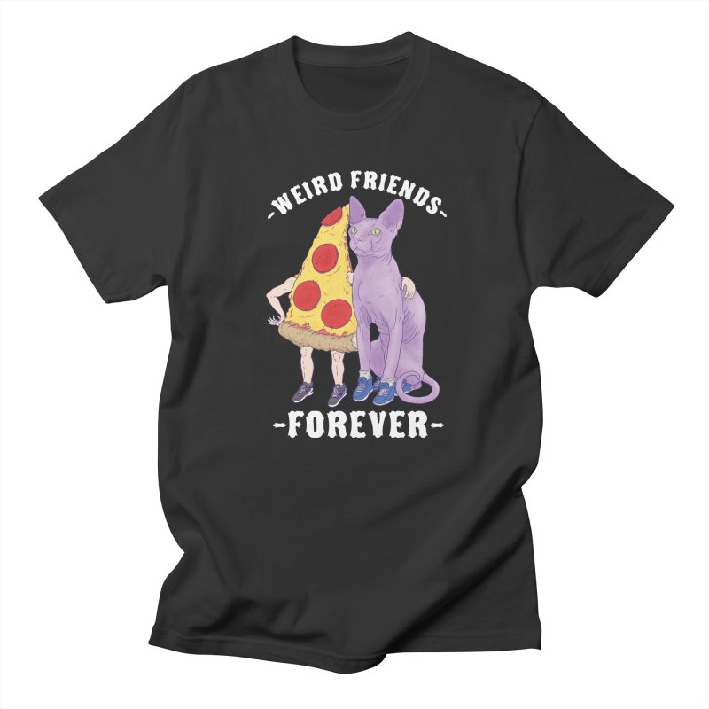 WEIRD FRIENDS FOREVS Men's Regular T-Shirt by Bob Motown's SUPER SNAZZY Shirt Shack