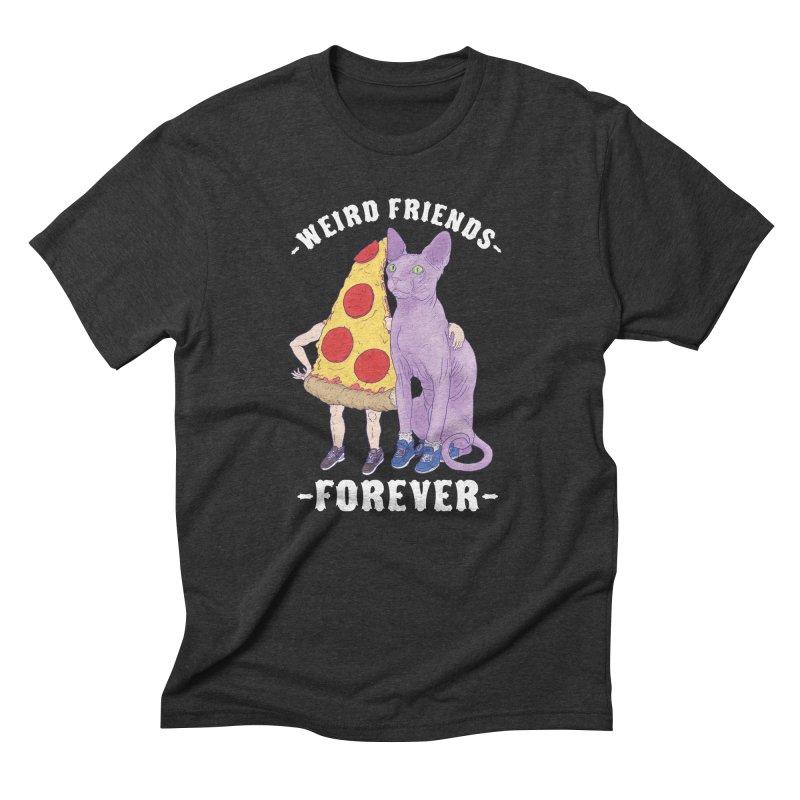 WEIRD FRIENDS FOREVS Men's Triblend T-Shirt by Bob Motown's SUPER SNAZZY Shirt Shack