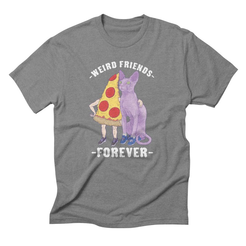 WEIRD FRIENDS FOREVS Men's Triblend T-Shirt by Bob Motown's SUPER SNAZZY Shirt Shack