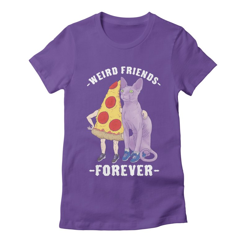 WEIRD FRIENDS FOREVS Women's Fitted T-Shirt by Bob Motown's SUPER SNAZZY Shirt Shack