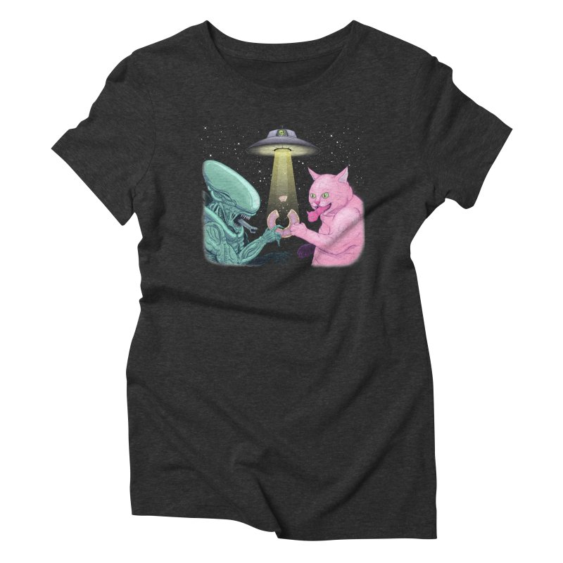 The Good The Bad & The Fuzzy Women's Triblend T-Shirt by Bob Motown's SUPER SNAZZY Shirt Shack