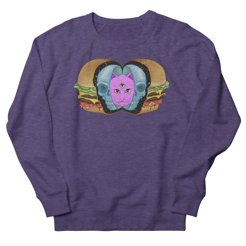 The Delicious, The Dead, & The Woke AF Women's French Terry Sweatshirt by Bob Motown's SUPER SNAZZY Shirt Shack