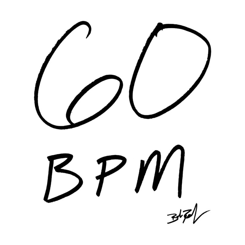 60 bpm (black) Accessories Notebook by