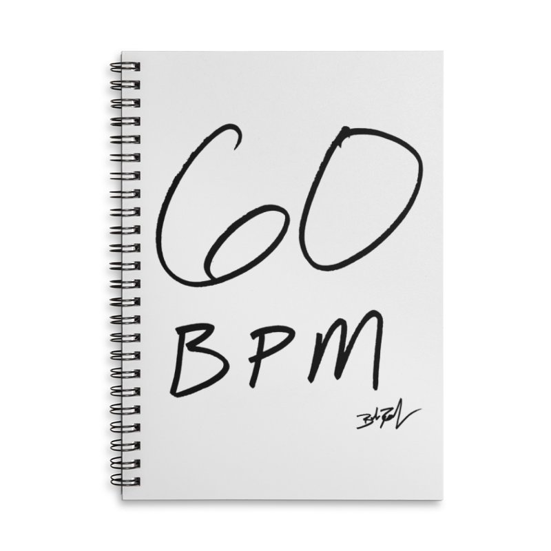 60 bpm (black) Accessories Notebook by