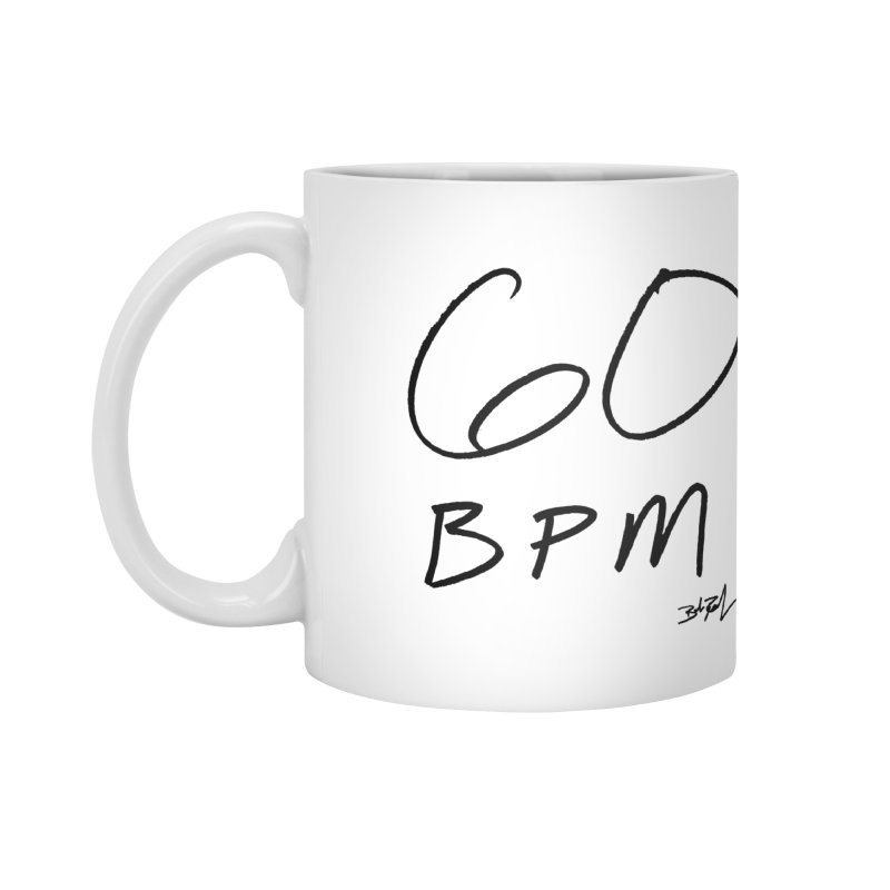60 bpm (black) Accessories Mug by