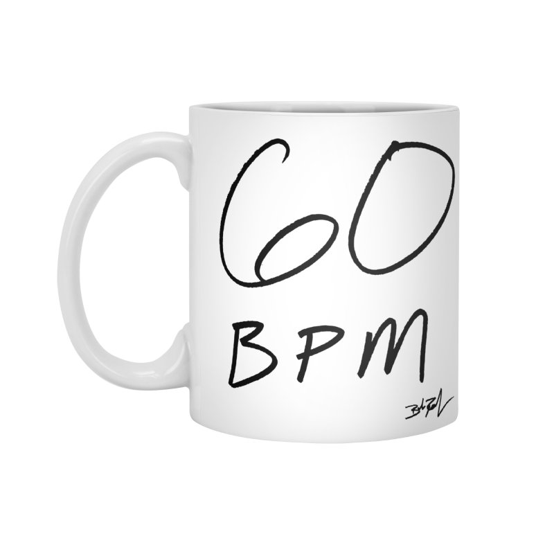 60 bpm (black) in Standard Mug White by