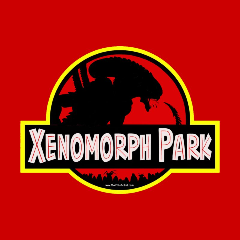 Xenomorph Park Men's T-Shirt by bobtheTEEartist's Artist Shop
