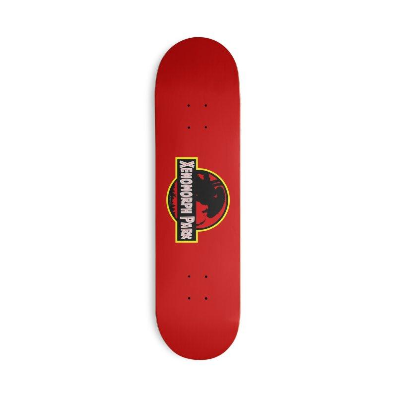 Xenomorph Park Accessories Skateboard by bobtheTEEartist's Artist Shop