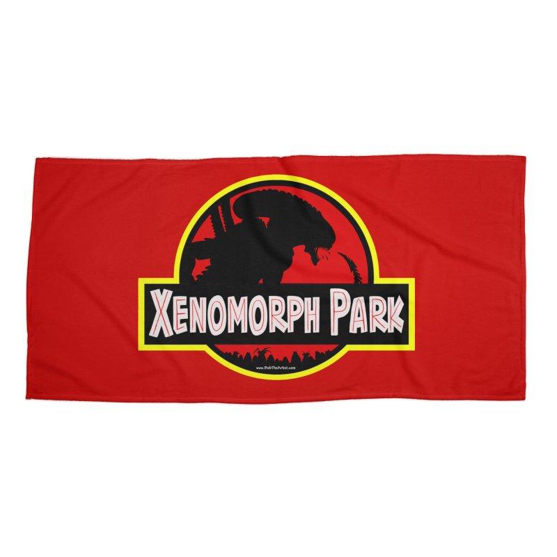 Xenomorph Park Accessories Beach Towel by bobtheTEEartist's Artist Shop
