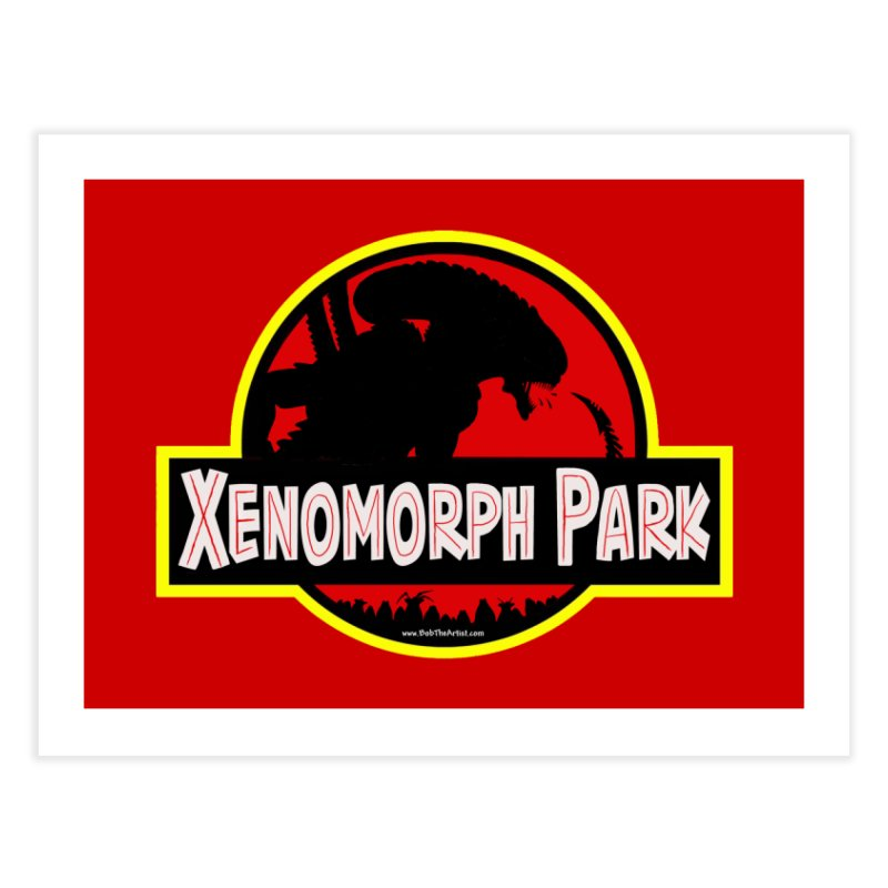 Xenomorph Park Home Fine Art Print by bobtheTEEartist's Artist Shop