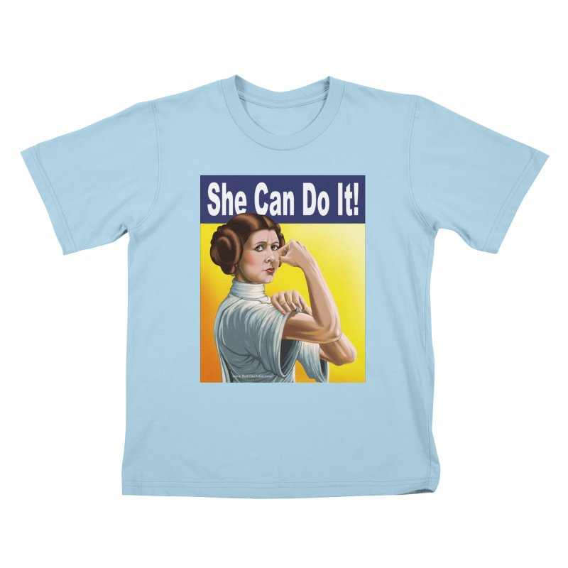 She Can Do It: Leia Kids T-Shirt by bobtheTEEartist's Artist Shop